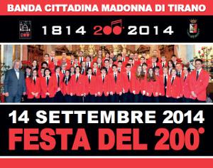 """LA BANDA CITTADINA """"MADONNA DI TIRANO"""" PRONTA A SPEGNERE LE 200 CANDELINE"""