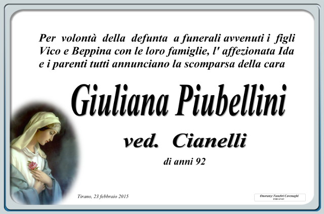 Piubellini Giuliana