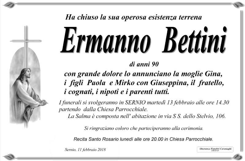 necrologio Bettini Ermanno