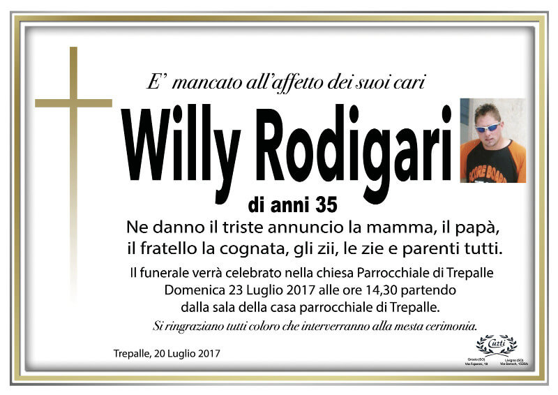 necrologio Rodigary Willy